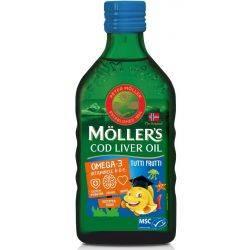 Cod Liver Oil Omega-3 Tutti Frutti MÖLLER's x 250ml
