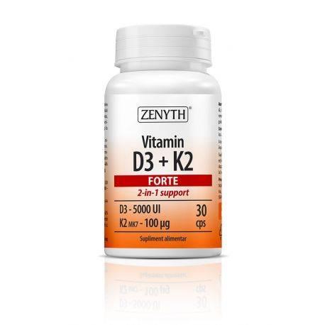 Vitamin D3 + K2 Forte x 30cps Zenyth
