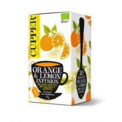 Ceai Infuzie de portocala si lamaie Eco 20x1,75g Cupper