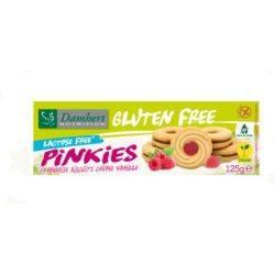 Biscuiti fara gluten cu zmeura Pinkies x 125g Damhert