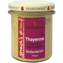 Crema tartinabila vegetala Thayenne cu Thai curry si piper de cayenne x 180g Zwergenwiese