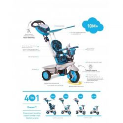 Tricicleta Smart Trike Dream Blue 4in1