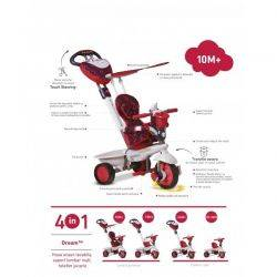 Tricicleta Smart Trike Dream Red 4in1