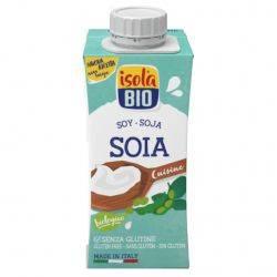 Crema bio din soia pentru gatit fara gluten x 200ml Isola Bio