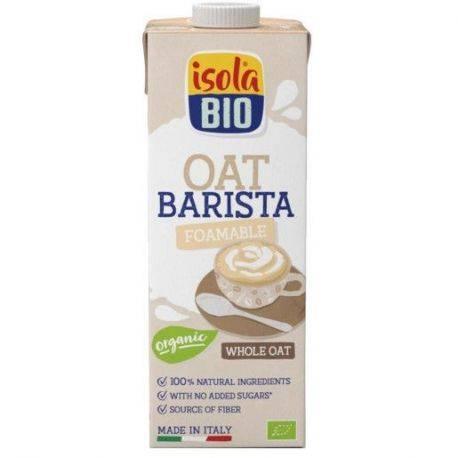 Bautura bio din ovaz integral Barista, fara gluten, fara zahar, pentru cafea x 1L Isola Bio