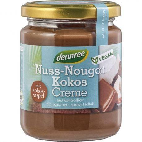 Crema nuss-nougat cu cocos, vegan x 250g Dennree