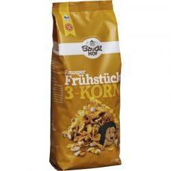 Muesli Crocant din 3 Cereale BIO Fara Gluten x 225g Bauckhof