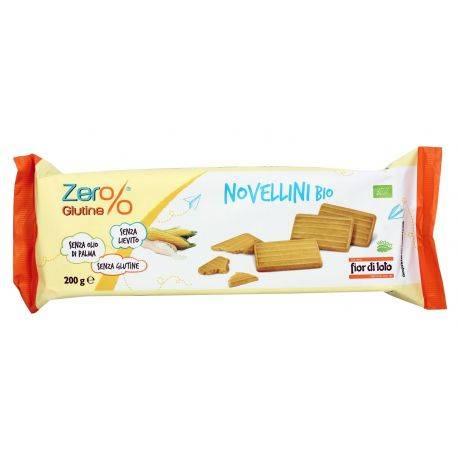 Biscuiti Novellini bio fara gluten, fara drojdie x 200g Fior di Loto