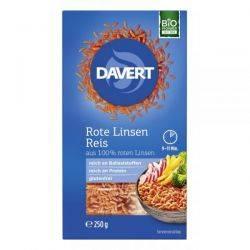Linte rosie in forma de orez fara gluten x 250g Davert