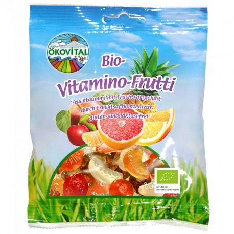 Jeleuri cu fructe si vitamine fara gluten si lactoza bio x100g Okovital
