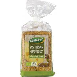 Crackers integrali cu branza si seminte de dovleac bio x200g Dennree
