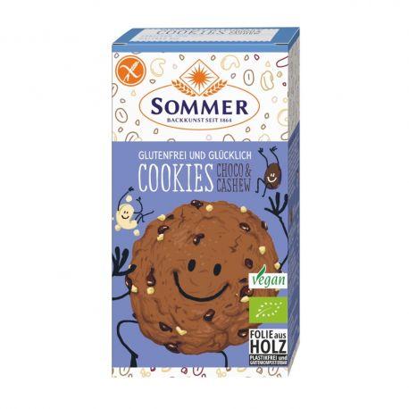 Fursecuri cu ciocolata si caju FARA GLUTEN bio x125g Sommer & Co