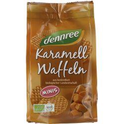 Mini vafe bio cu caramel x 150g Dennree