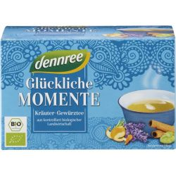 Ceai bio Momente fericite 20 plicuri x 40g Dennree