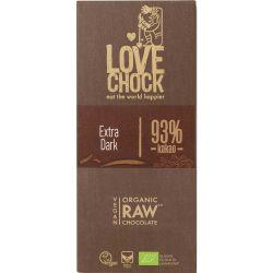 Ciocolata RAW VEGANA BIO 93% cacao eco x 70g Lovechock