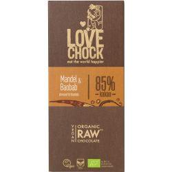 Ciocolata RAW VEGANA cu migdale si baobab x 70g Lovechock
