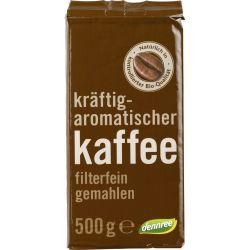 Cafea prajita macinata bio x500g Dennree