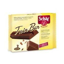 Twin Bar Batoane de napolitana in ciocolata cu lapte, fara gluten x 107,5g (Dr. Schar