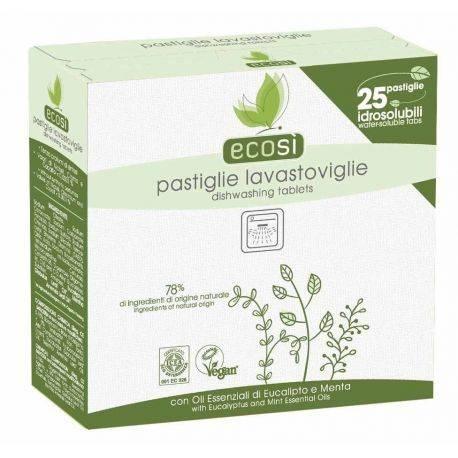 Tablete ECO hidrosolubile pentru masina de spalat vase, vegan 25buc x 450g Ecosi
