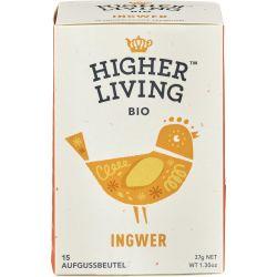 Ceai de ghimbir 15 plicuri bio x37g Higher Living