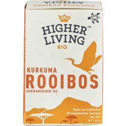 Ceai bio Rooibos cu turmeric x 20 plicuri bio, 28g Higher Living