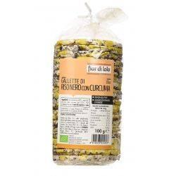 Rondele (Galete) bio de orez negru cu turmeric, fara gluten x 100g Fior di Loto