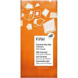 Ciocolata cu caramel sarat si zahar din flori de cocos x 80g Vivani