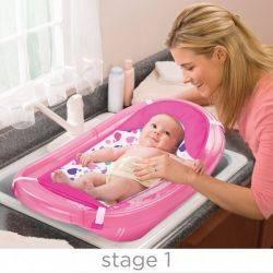 Set cadita si suport de baita Sparkle and Splash Pink - Summer Infant