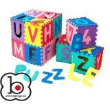 Salteluta de joaca cu cifre si litere Puzzle 36 piese BabyGo