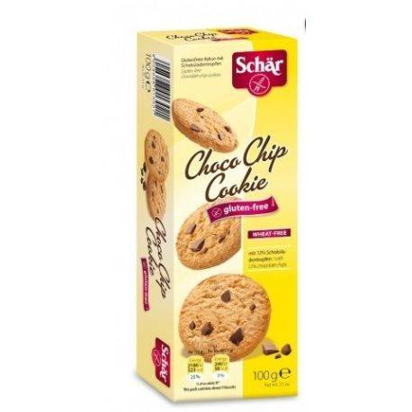 ChocoChip Cookies Biscuiti fara gluten cu fulgi de ciocolata  x 100g Dr. Schar