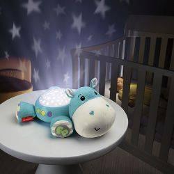 Lampa de veghe Fisher Price, Hippo de plus cu proiector si muzica
