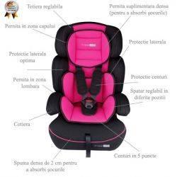 Scaun auto FreeMove Pink BabyGo