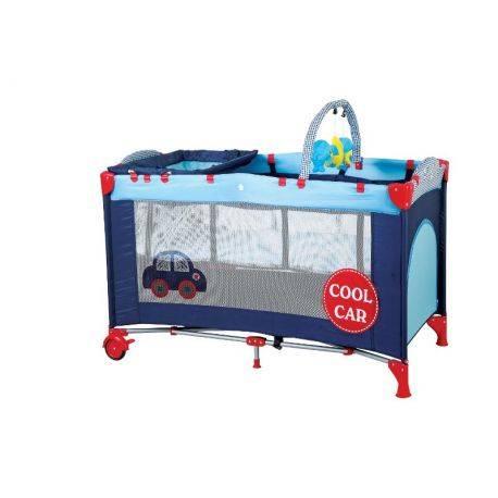 BabyGo – Patut pliant cu 2 nivele SleepWell Car