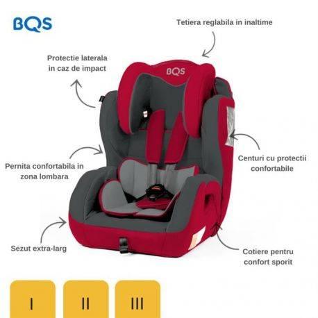 Scaun auto 9-36 kg Minno Red BQS