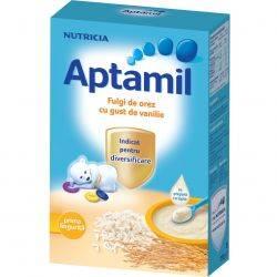 Cereale Aptamil Fulgi de orez cu gust de vanilie x 200g