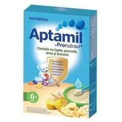 Cereale Aptamil cu lapte, porumb, orez si banane x 225g