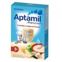 Cereale Aptamil 3 cereale cu lapte si 3 fructe x 225g