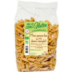 Mini penne din orez semi integral fara gluten bio x 500g Ma vie sans gluten