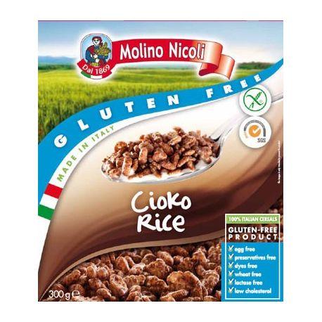 Cioko Rice Fulgi de orez cu ciocolata fara gluten x 300g Molino Nicoli