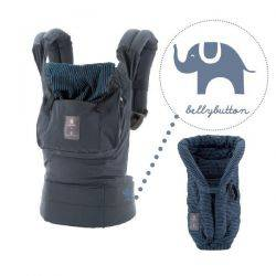 Marsupiu cu Suport Inclus Bellybutton Navy With Blue Stripes Ergobaby