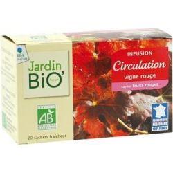 Ceai din plante Circulatie bio (20 plicuri) 30g JardinBio