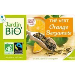 Ceai verde Portocala Bergamota bio (20 plicuri) 30g JardinBio