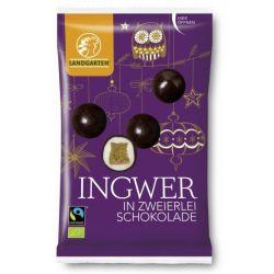 Ghimbir in dublu strat de ciocolata bio x 70g Landgarten