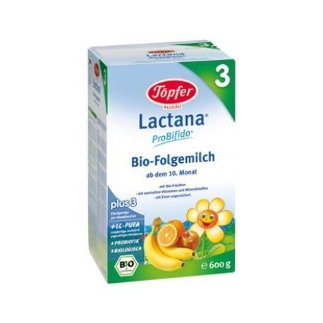 Lactana 3 bio lapte praf x 600g Topfer