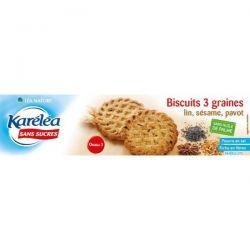 Biscuiti 3 cereale fara zahar x 132g Karelea
