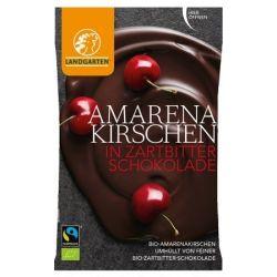 Landgarten Cirese amarena in ciocolata neagra bio x 50g