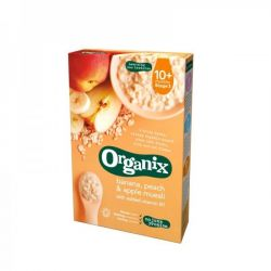 Cereale muesli, banane, piersica, mar 10+ x 200g Organix