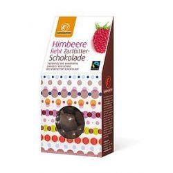 Zmeura in ciocolata neagra bio x 90g Landgarten
