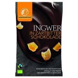 Ghimbir in ciocolata neagra bio x 70g Landgarten