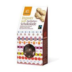 Ghimbir in ciocolata neagra bio x 110g Landgarten